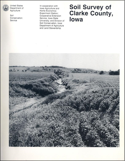 Clarke county iowa soil survey digital version for Soil web survey