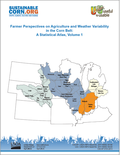 Farmer Perspectives On Agriculture And Weather Variability In The - Us-corn-belt-map