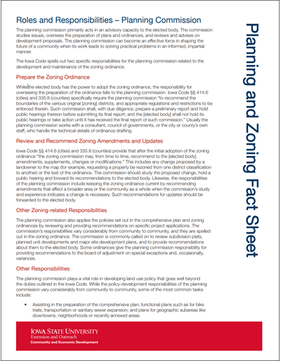 Planning And Zoning Roles And Responsibilities Planning Commission