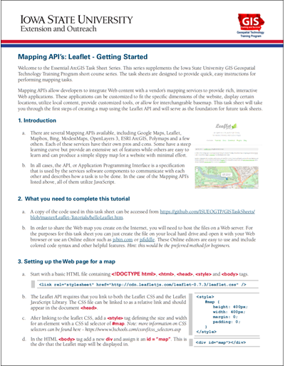 Mapping API's: Leaflet - Awesome Markers Plugin Using Font