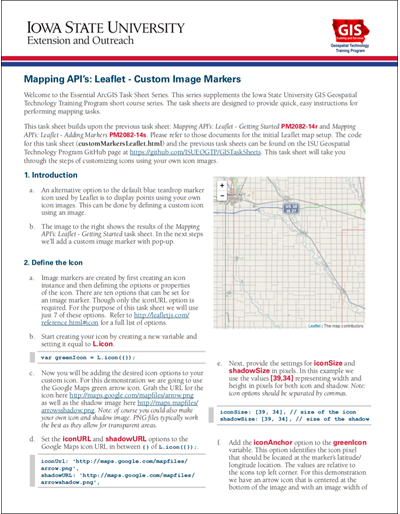 Mapping API's: Leaflet - Awesome Markers Plugin Using Font Awesome