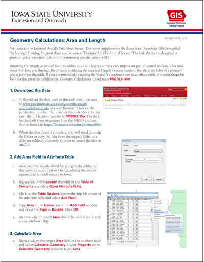 Geometry Calculations: Area and Length