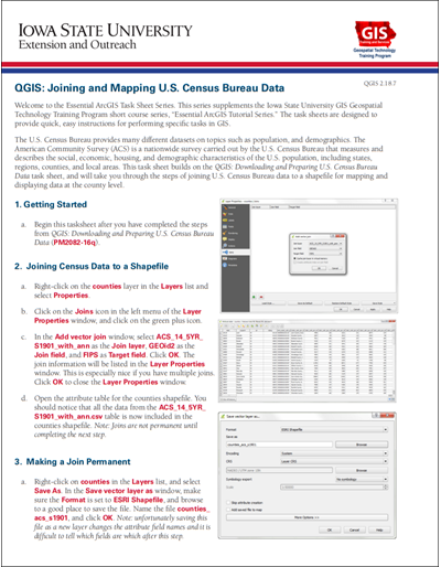 QGIS: Joining and Mapping U S  Census Bureau Data
