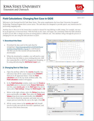 Field Calculations: Changing Text Case in QGIS