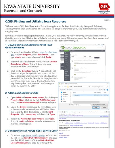 QGIS: Finding and Utilizing Iowa Resources
