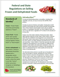 Federal and State Regulations on Selling Frozen and Dehydrated Foods