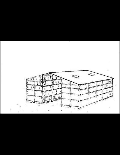Double Pole Structure : Double pole corn crib