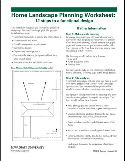 graphic relating to Garden Planning Worksheet identified as Residence Landscape Designing Worksheet: 12 Ways toward a Useful